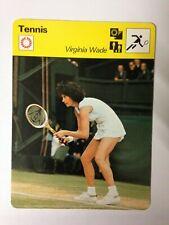 CARTE EDITIONS RENCONTRE 1978 / TENNIS - VIRGINIA WADE