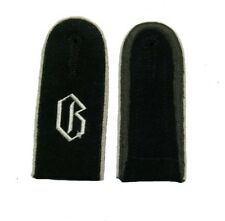 German WW2 Elite Unit Enlisted Shoulder Boards.White piping w/ G