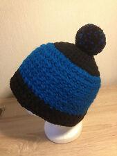 Mütze Häkelmütze Kinder Damenmütze Wintermütze Boshi 58-60 Gr.L azur blau enzian