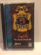Sega CD Crime Patrol- Live Motion Picture Action Video Game