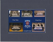 Duke Blue Devils matted photo of ALL 5  NCAA Championship teams