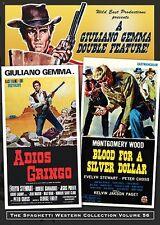 Adios Gringo & Blood on a Silver Dollar DVD Wild East double bill spaghetti