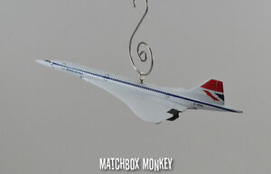 British Airways Concorde Jet Airplane Custom Christmas Ornament 1/400th Aircraft