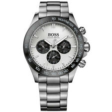 NEW ORIGINAL HUGO BOSS MENS IKON STEEL CHRONOGRAPH WATCH - 1512964  RRP £375