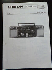 ORIGINALI service manual GRUNDIG PARTY CENTER 800