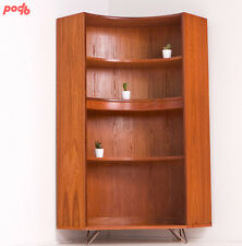 Vintage G Plan Mid Century Teak Corner Bookcase Display Drinks Cabinet  Shelves