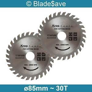 Makita Circular Saw Blade Fine Cut TCT 85mm x 15mm x 30T by KROP (2 Pack)