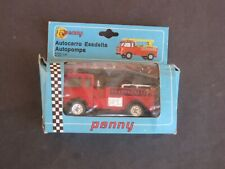 VINTAGE RARE PENNY ESADELTA FIRE TRUCK MADE IN ITALY MINT NEW IN PACKAGE