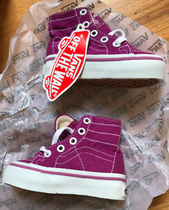 Vans Off The Wall High-tops Toddler Size 4 Purple Pink NWT Shoes Sneakers