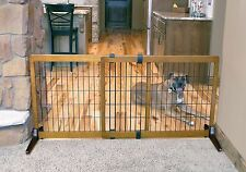 "Carlson Freestanding 28"" Tall EXTRA WIDE Pet Gate 2870 for dog"