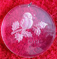 Vintage Collectible 1979 Hallmark Acrylic Snow Bird Christmas Ornament