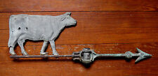 ANTIQUE COW WEATHER VANE in COPPER - AS IS