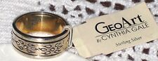 Vintage CYNTHIA GALE GeoArt STERLING Spinning Ring New W/Tags