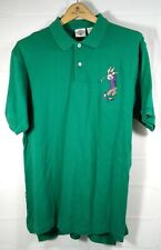 Vtg 1994 Bugs Bunny Playing Golf Polo Shirt Looney Tunes Green L ACME Clothing