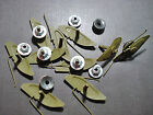 10 Pc Ford Fender Body Side Trim Moulding Clips Sealer Nuts 1-14 - 1-12 Nors