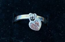 Authentic Pandora Love Lock Ring - Sterling Heart Dangle 52 (US 6) 196571