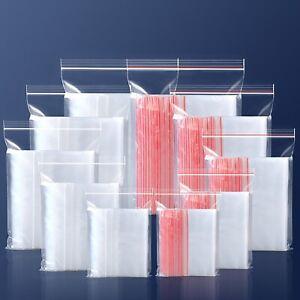 Zip Lock Bag Self Seal Resealable Transparent Grip Poly Plastic Zipper bag 200x
