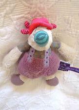 doudou canard LES JOLIS PAS BEAUX MOULIN ROTY gris beige mauve violet vert rouge