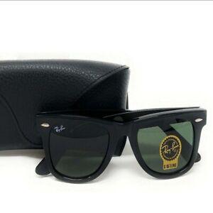 RayBan Wayfarer Classic Black Sunglasses G-15 Lens RB2140 901 50mm Ray-Ban