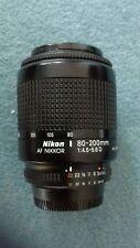 Lente Nikon Af Nikkor 80-200 Mm-Excelente Estado + 2 Lentes Gorras