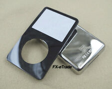 Black Front Faceplate Metal Back Housing Case Cover for iPod 5th gen Video 60GB