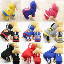 Cartoon Cotton Pet Dog Puppy Cat Winter Warm Coat Clothes Apparel Jumpsuit New