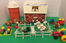 Vintage Fisher Price Little People Play Family Farm Silo 4 Hex Screw Animals