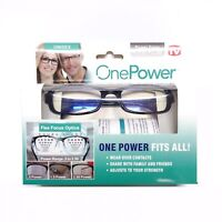 Reading Adjustable Eye Glasses Flex Clear Focus Auto Adjusting Optic