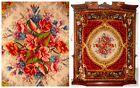 ANTQ European Velvet Floral Medallion Aubusson Rug Tapestry Throw Rug Bedspread
