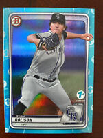 2020 Bowman Draft 1st Edition Ryan Rolison SKY BLUE PARALLEL SP Rockies