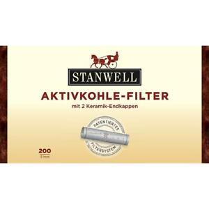 200x Stanwell Aktivkohlefilter Pfeifenfilter 9mm Filter Pipe Keramik Filter