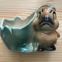 "Vintage Shawnee Ceramic Duck Duckling Pottery Planter 3.5"" Tall"
