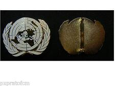 Fregio Militare ONU da Basco Berretto in Metallo Smaltato Attacco con Spilla