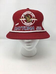 Vintage 1992 Daytona 500 Winston Cup Trucker Mesh Rope Race Hat NASCAR Cap Red