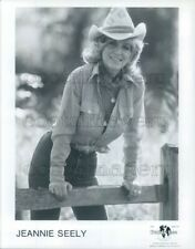 1982 Press Photo Classic Country Music Singer Jeannie Seely