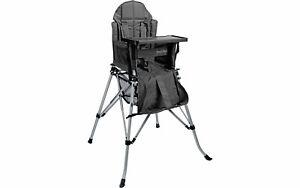 One2Stay Kinderhochstuhl faltbar mit abnehmbaren Esstisch schwarz Kinderstuhl