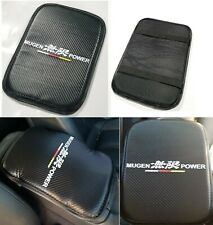 "For MUGEN Racing Car Center Console Armrest Cushion Mat Pad Cover 11.75""X8.5"""