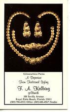 Kalbing Goldsmith Gold Jewelry-Palm Beach-Florida-Vintage Advertising Postcard