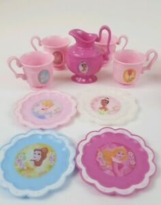 Princess Play Dishes Cups Plates Utensils 34 pieces