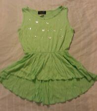 Girls Shirts Knit Top Sz 14/16 Green Children  Kids Luv Me More