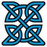 CELTIC SYMBOL VINYL STICKER BUMPER DECAL RELIGIOUS CAR BIKE KNOT DESIGN 03 cyan