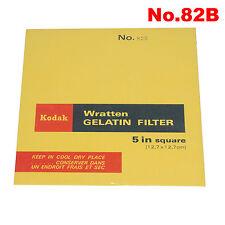 Kodak, Wratten Gelatin Filter 12,7 x 12,7 cm No.82B.