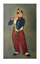 Edouard Manet Kunstdruck Poster Bild seltener Lichtdruck Der Pfeiffer 93x54cm