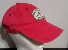 US POLO ASSOCIATION HAT RED STRAPBACK ADJUSTABLE EMBROIDERED