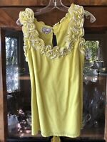 Yoana Baraschi Women's Trending Yellow Color Blouse From Anthropologie Size M