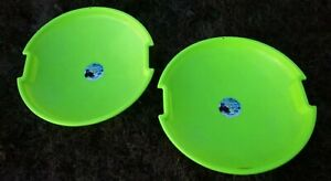"TWO DayGlow Green SnoRacer 26"" Snow Sledding Discs Sleds Emsco MADE IN USA"