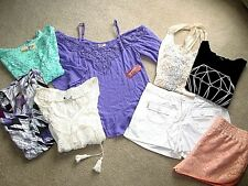 Ladies Junior Shorts Tops Size S Lot of 8 Vera Wang, Forever 21 = Pretty!