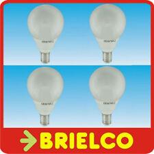 LAMPARA BOMBILLA BAJO CONSUMO FLUORES. LUZ DIA ESFERICA E14 11W 220V 4UDS BD4086