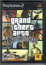 GRAND THEFT AUTO SAN ANDREAS ORIGINAL PS2 PLAYSTATION 2 GAME gta
