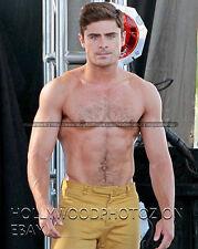 Zac Efron Shirtless Hunk Hairy chest movie tv Actor  8x10 Rare Photo 24